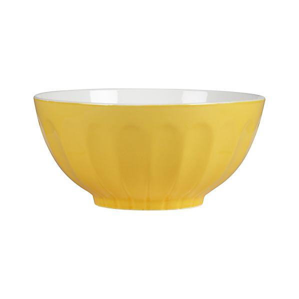 Yellow & White Mixing Bowl