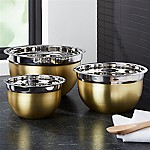 Gold Mixing Bowls, Set of 3