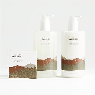Mountain Rain and Soaring Cedars Scented Bath and Body Products