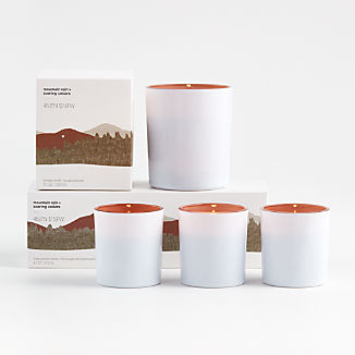 Mountain Rain and Soaring Cedars Scented Candles