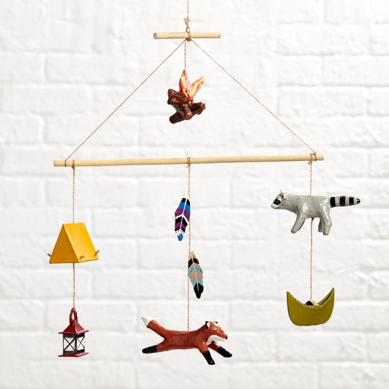 animal baby mobiles crate and barrel