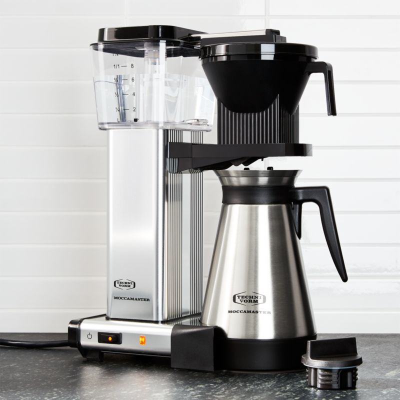 moccamaster 10 cup coffee maker reviews crate and barrel. Black Bedroom Furniture Sets. Home Design Ideas