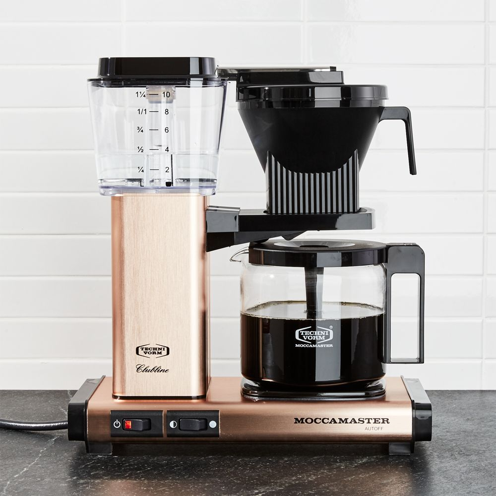 Moccamaster 10-Cup Copper Coffee Maker - Crate and Barrel