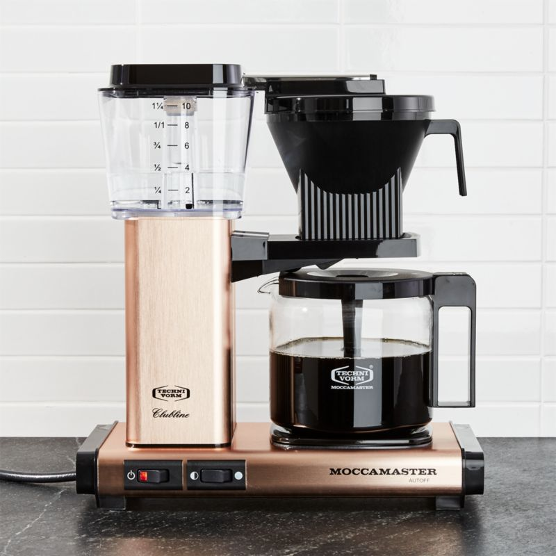 Moccamaster 10-Cup Copper Coffee Maker Crate and Barrel