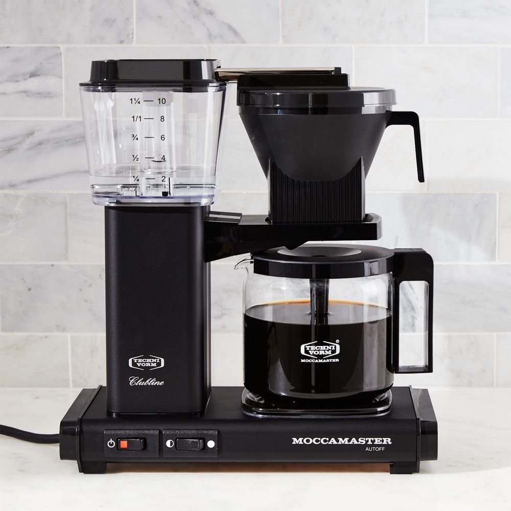 Moccamaster 10-Cup Matte Black Coffee Maker - Crate and Barrel