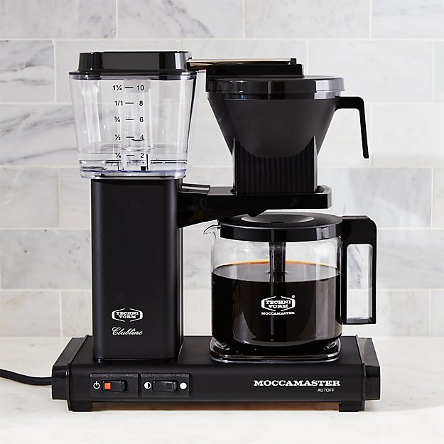 Moccamaster 10 Cup Matte Black Coffee Maker Crate And Barrel