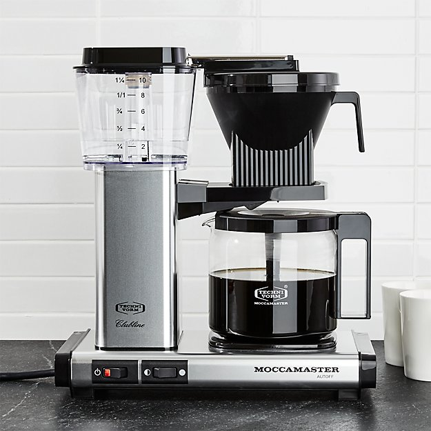 Moccamaster 10 Cup Polished Silver Coffee Maker Crate