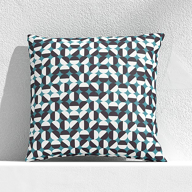 """Mod Circle Harbor Blue 20"""" Outdoor Pillow - Image 1 of 3"""