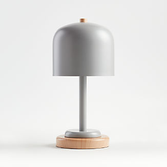 Grey Modern Dome Touch Table Lamp