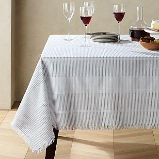 042a5f2445b1 Modern Stripe Fringe Tablecloth
