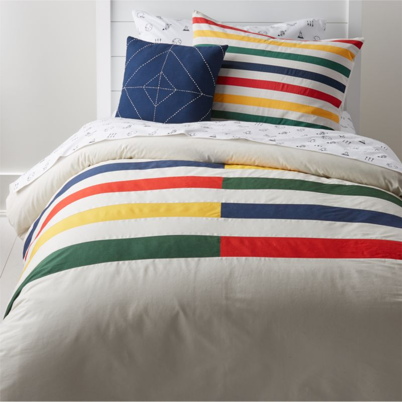 Modern Striped Bedding Crate And Barrel