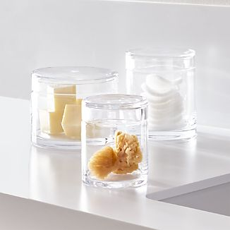Mode Clear Glass Canisters, Set of 3