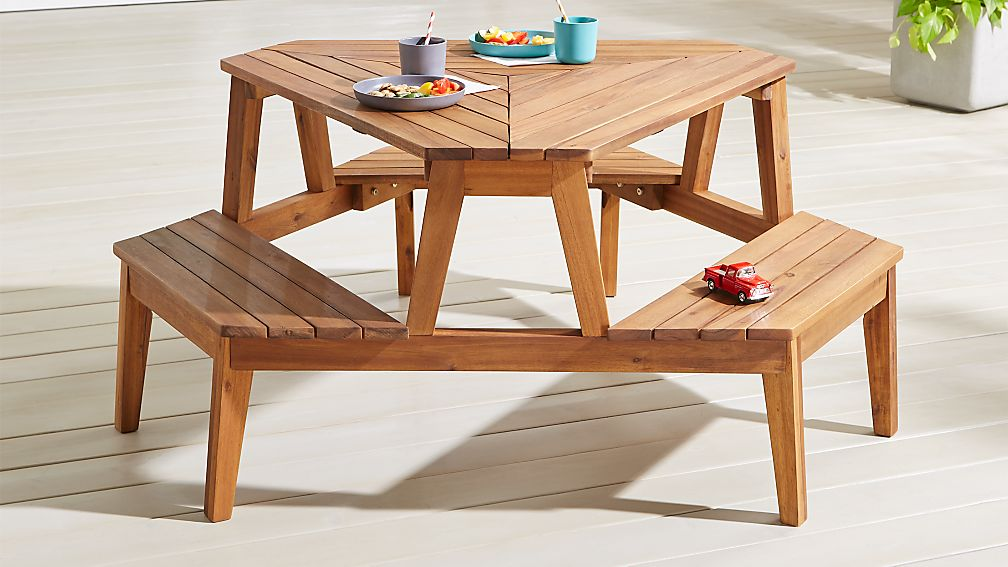 Modern Kids Picnic Table Reviews Crate And Barrel - Ready to assemble picnic table