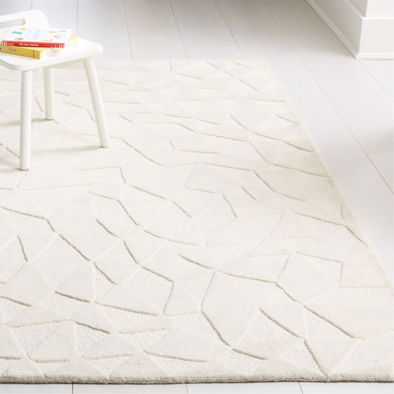 Modern Solid Cream Rug Crate And Barrel