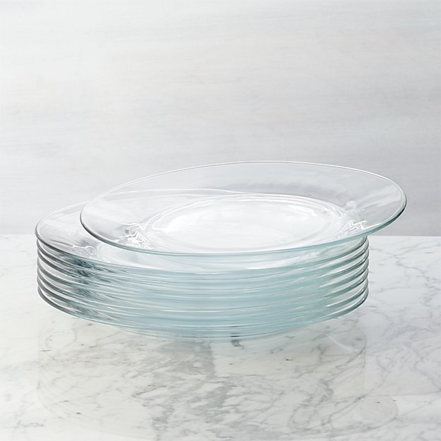 set of 8 moderno dinner plates crate and barrel