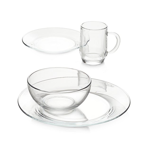 Moderno Glass Salad Plate + Reviews | Crate and Barrel