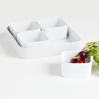 Modular 5-Piece Square Serving Set