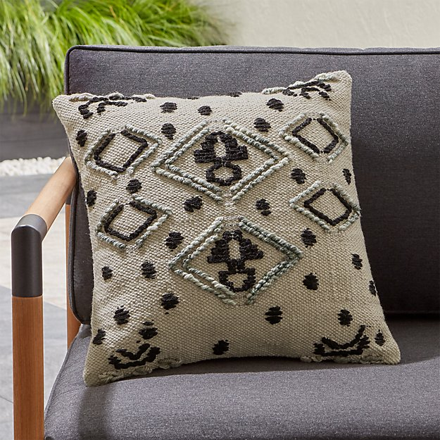 Mohave Embroidered Outdoor Pillow - Image 1 of 6