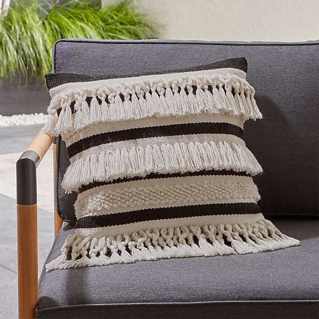 Mohave Fringe Outdoor Pillow Reviews Crate And Barrel