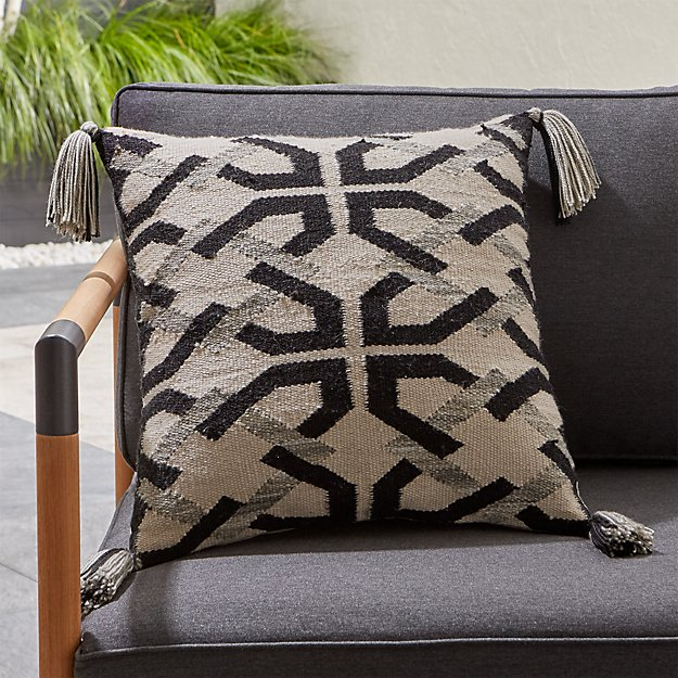 Mohave Tassels Outdoor Pillow - Image 1 of 6