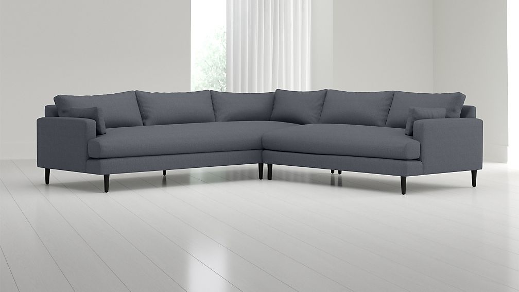 Monahan 2-Piece Left Arm Corner Sofa Sectional + Reviews | Crate and ...