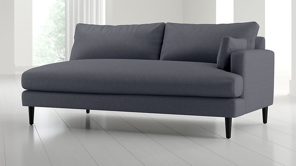 Monahan Right Arm Loveseat Sofa + Reviews | Crate and Barrel
