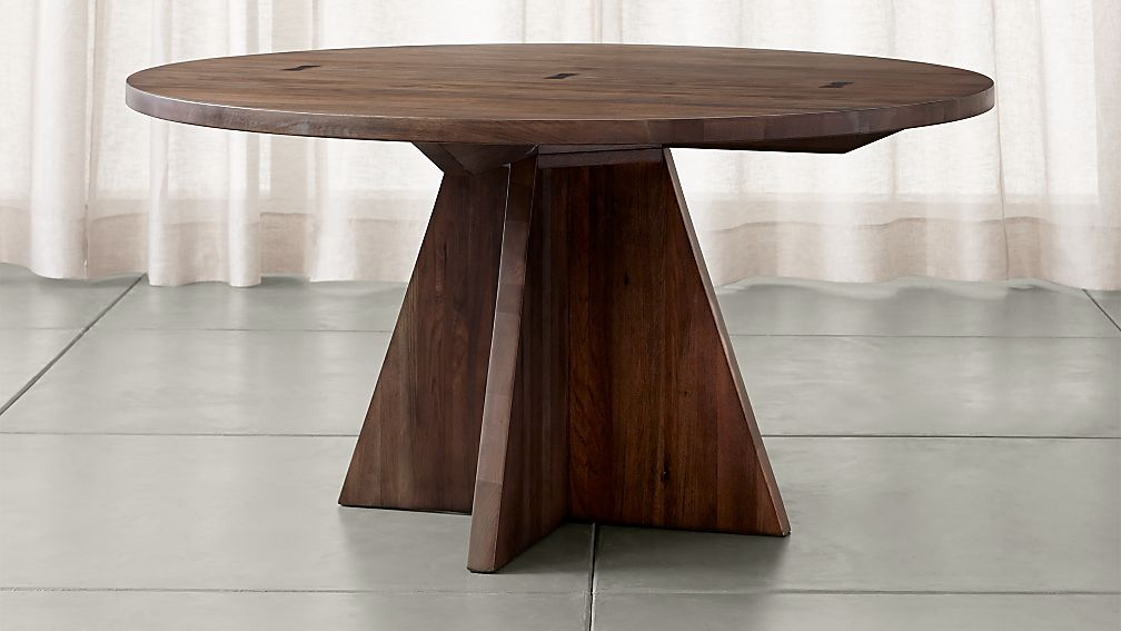 "Monarch Shiitake 60"" Round Dining Table - Image 1 of 8"