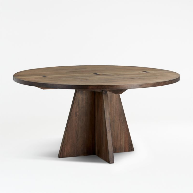 Monarch Shiitake 60 Round Dining Table Reviews Crate And Barrel