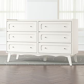 Kids Monarch White 6 Drawer Dresser
