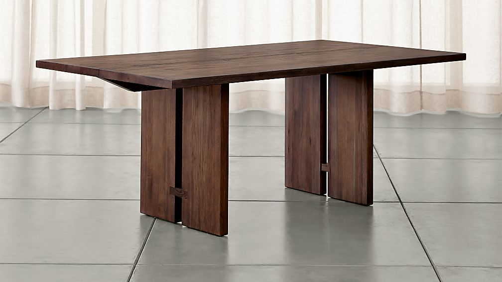 monarch shiitake dining tables | crate and barrel 108 Inch Dining Table