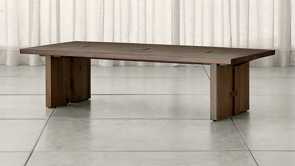 Monarch Solid Walnut Coffee Table Crate and Barrel