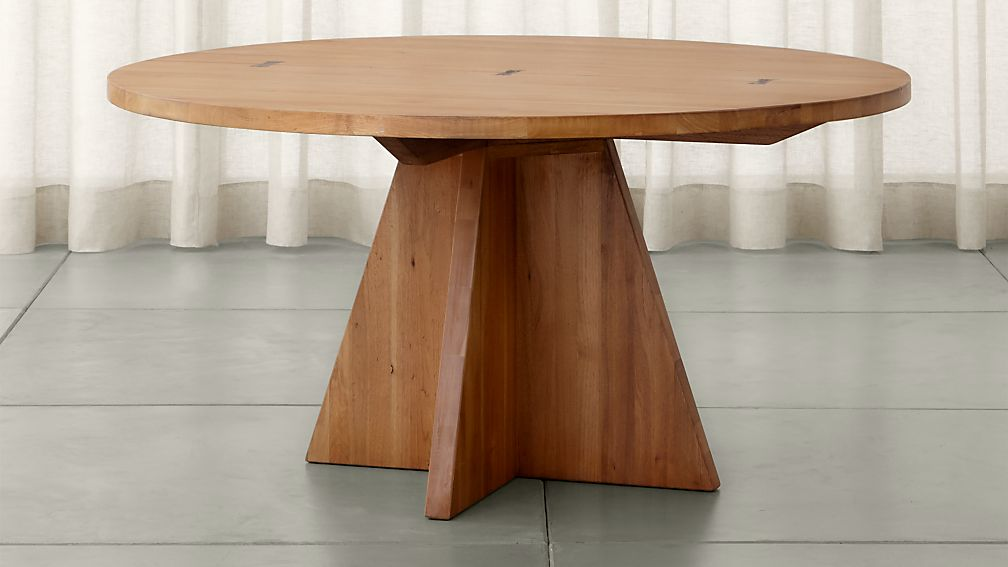 Monarch 60 Quot Solid Walnut Round Dining Table Crate And Barrel