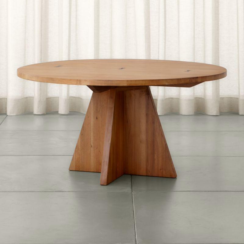 Monarch 60 Solid Walnut Round Dining Table Reviews Crate And Barrel