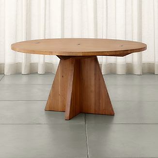 Monarch 60  Solid Walnut Round Dining Table. Solid Wood Dining Tables   Crate and Barrel