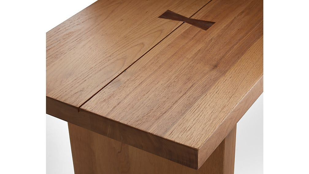 """Monarch Natural 65"""" Solid Walnut Bench"""