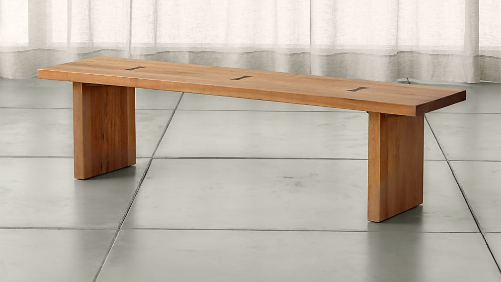 "Monarch Natural 65"" Solid Walnut Bench - Image 1 of 7"