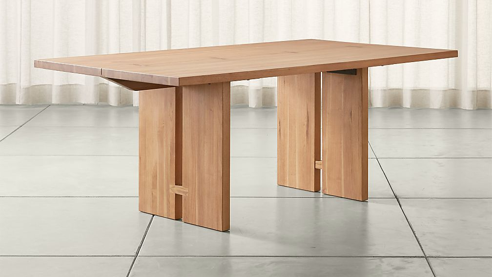 Monarch 76 Natural Solid Walnut Dining Table Crate and Barrel