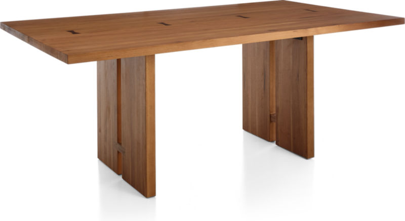"Monarch 76"" Natural Solid Walnut Dining Table"