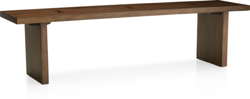 "Monarch Natural 65"" Solid Walnut Bench"