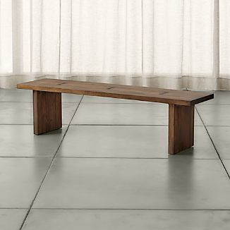 "Monarch Shiitake 65"" Solid Walnut Bench"