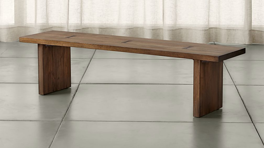 "Monarch Shiitake 65"" Solid Walnut Bench - Image 1 of 7"