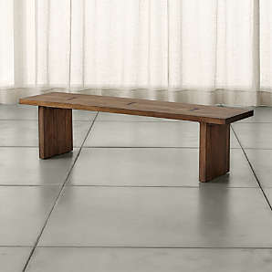 Walnut Benches For Dining Storage Crate And Barrel