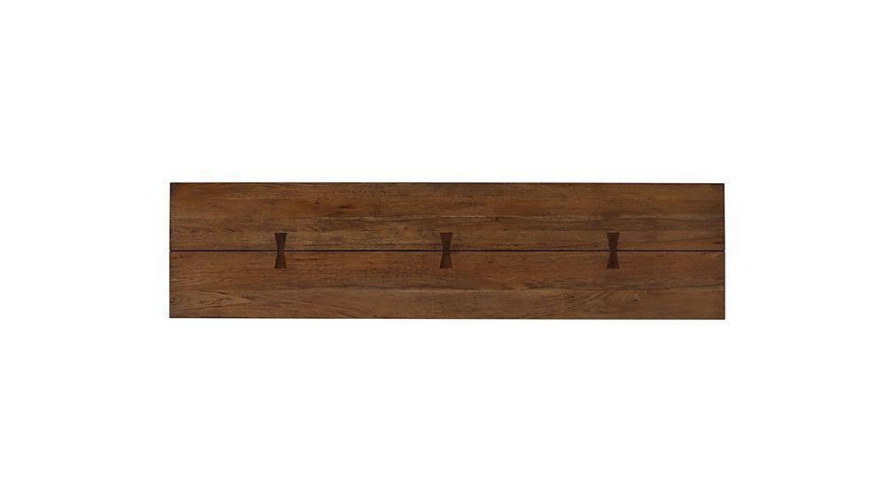 "Monarch Shiitake 65"" Solid Walnut Bench"