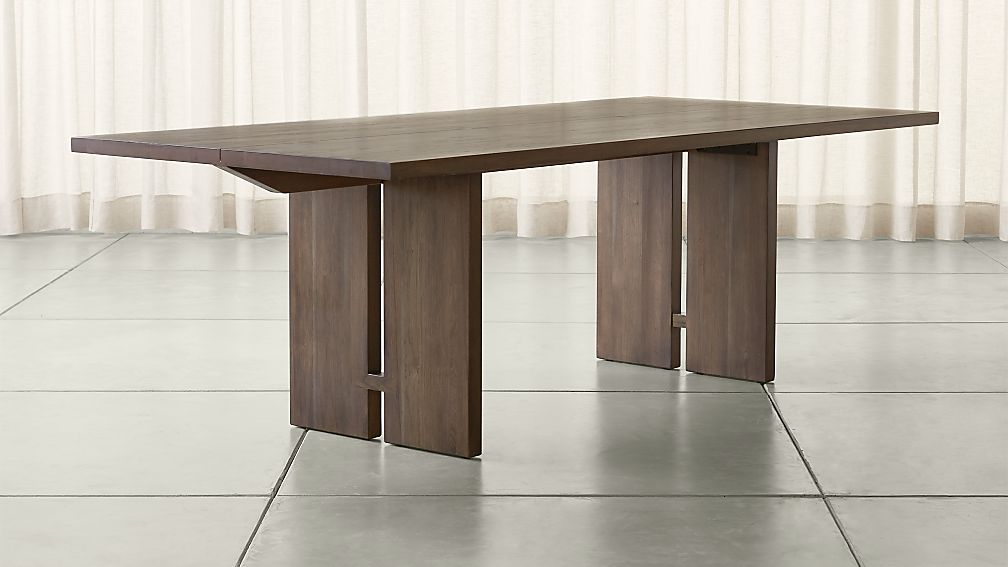 Monarch 92 Quot Shiitake Dining Table Reviews Crate And Barrel