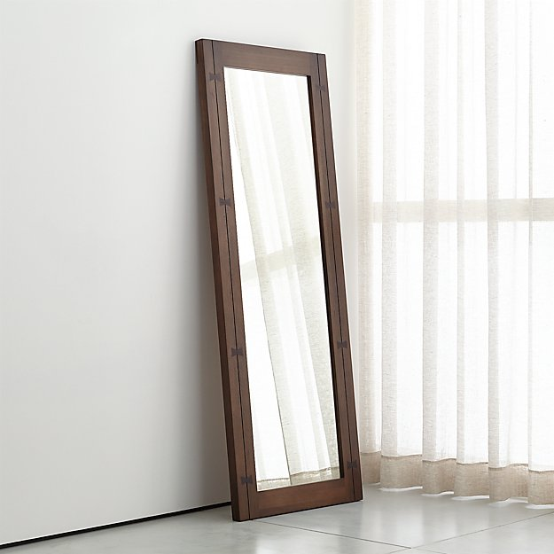 Monarch Shiitake Wood Frame Floor Mirror + Reviews | Crate and Barrel