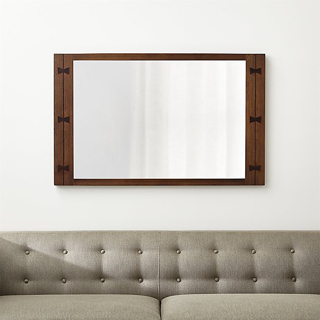 Monarch Shiitake Wood Frame Wall Mirror - Image 1 of 7