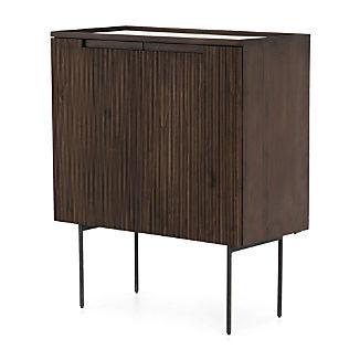 Monroe Dark Wood Bar Cabinet