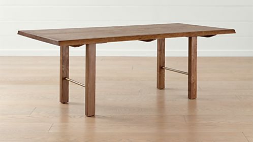Montana Live Edge Dining Tables & Shop Dining Room u0026 Kitchen Tables | Crate and Barrel
