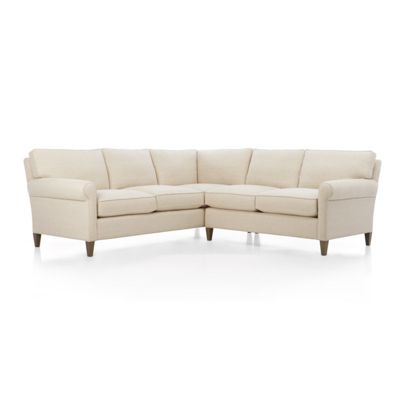 Montclair 2Piece Sectional Sofa Crate and Barrel
