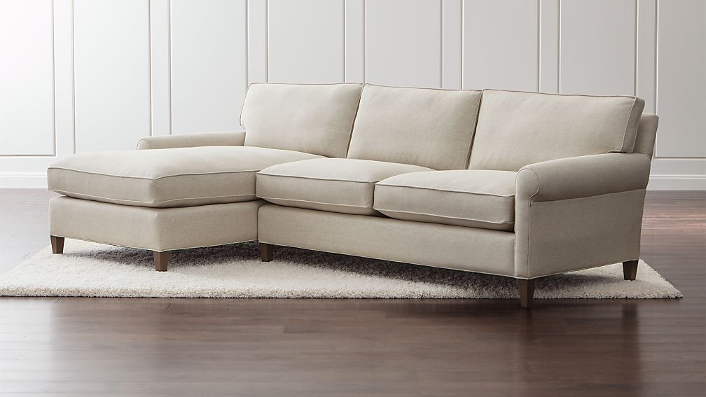 Montclair 2 Piece Left Arm Chaise Roll Sectional Sofa Reviews Crate And Barrel
